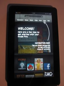 Kindle Fire Welcome