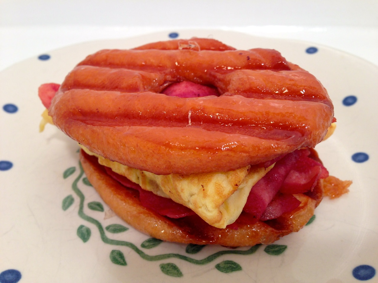 Glazed Doughnut Breakfast Sandwich