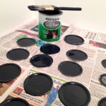 chalkboard paint mason jar lids