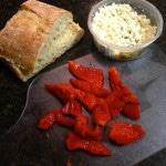 Artichoke, Roasted Pepper, Goat Cheese Panini