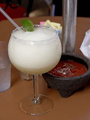 A blended margarita