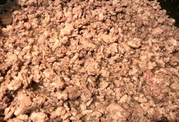 browned chop meat