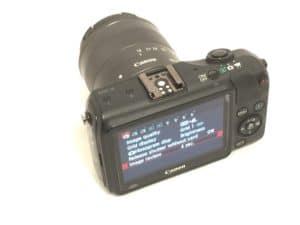 Canon EOS-M back