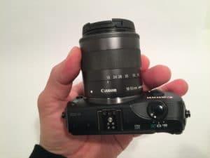 Canon EOS-M top