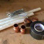 DIY Wine Bottle Tiki Torch Supplies