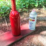 DIY Wine Bottle Tiki Torch paint