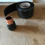 DIY Wine Bottle Tiki Torch Silicon Tape